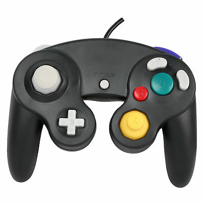 Wired Shock Video Game Controller Pad for Nintendo GameCube GC&Wii Black Gift CS