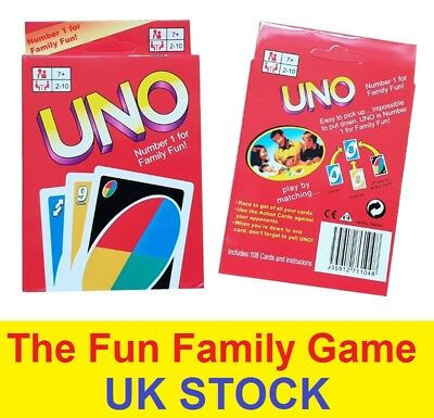 Fun UNO Card Game 108 Playing Cards Indoor Family Children Friends Party Gift UK