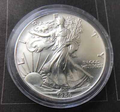 1986 USA Dollar 1 OZ - 1 Unze - Oncia - Liberty Eagle - Silver / Argento 999