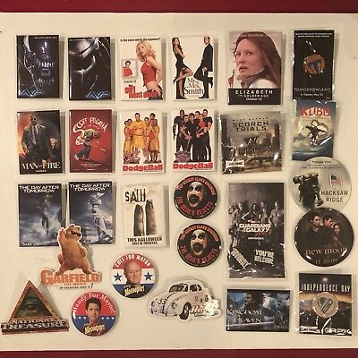 DISNEY MOVIE BUTTON Pins Walmart Promotional Collectible LOT