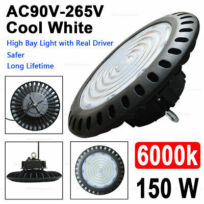 150W UFO High Bay LED Light Warehouse Factory Farm NSF UL DLC White 5000K