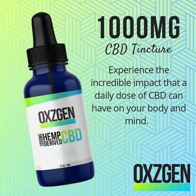 CBD - 1000 mg tinctures 100% THC free - great for overall health + so much more!