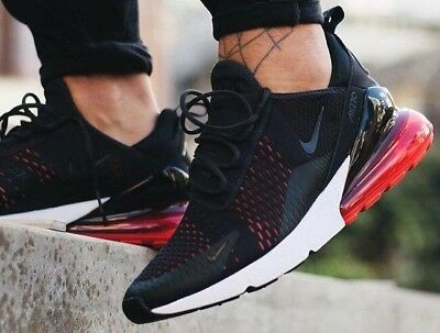 New NIKE Air Max 270 Mens black gray red sneaker all sizes