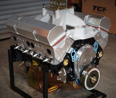 SBC CHEVY 434 PRO STREET MOTOR, AFR HEADS, CRATE MOTOR 670 hp BASE ENGINE