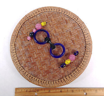 RARE LARGE ANTIQUE BEADS BANGLES Chinese Sewing Basket Betty-Lou Collection 137