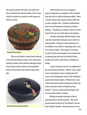 PAINTED Betty-Lou's Collection Antique RARE Chinese Sewing Basket pg163 ~142