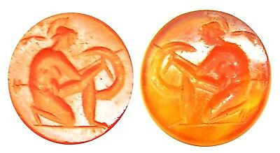 1st century BC / AD Ancient Roman Carnelian Intaglio of a Greek Hero / Hoplite