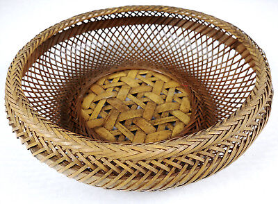 RARE Lg ANTIQUE Chinese Fruit? Sewing Basket Betty-Lou Collection 147