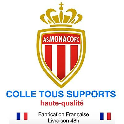 Stickers autocollant AS MONACO foot football, plusieurs tailles, super prix