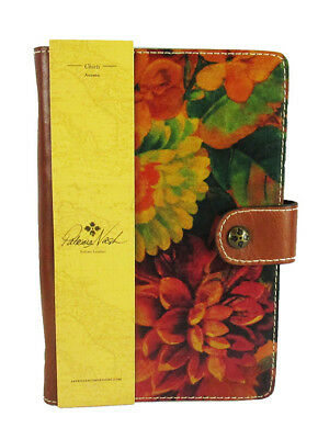 $$PATRICIA NASH HERITAGE Chieti Multi-Color Italian Leather Agenda 2018 Msrp $69