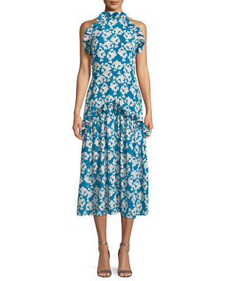 6422af10e1 NEW Borgo de Nor Women s Dora Floral-Print Halter Midi Dress - Multi - Size