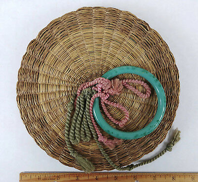 BANGLE SMALL ANTIQUE Chinese Sewing Basket Betty-Lou Collection 166