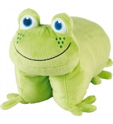 Go Travel FROGGY FOLDING PILLOW for KIDS - Air Travel - Road Trips - NEW - Soft