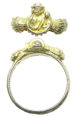 15th - 16th century Late Medieval Silver-gilt Pilgrims Ring Compostela St. James