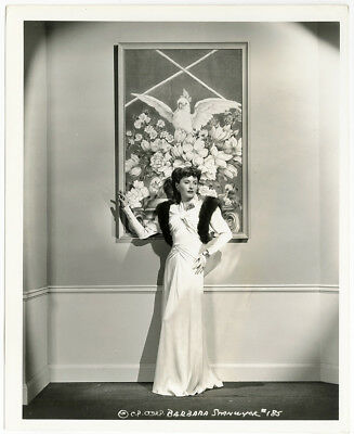 Barbara Stanwyck in Edith Head Gown You Belong to Me Vintage Photograph 1941