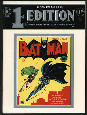 Famous First Edition Batman #1 Tabloid F-5 1975. Great Condition!