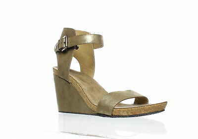 de52dd2105e7 NEW ADRIENNE VITTADINI Womens Ted Taupe Ankle Strap Heels Size 9.5 ...