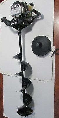 """VINTAGE STRIKEMASTER ICE Auger Mag 2000 2hp Hardly Used Ice Fishing 37""""  auger"""