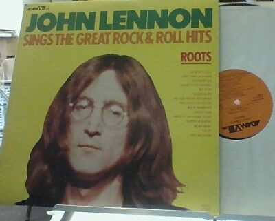 JOHN LENNON Roots: Sings Great Rock & Roll Hits LP Mega Rare AUTHENTIC Beatles
