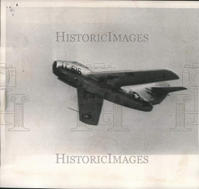 1954 Press Photo US Air Force MIG-15 airplane delivered by North Korean officer