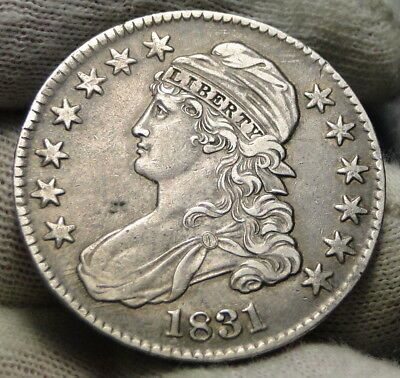 1831 50C Capped Bust Half Dollar, Nice Coin, Free Shipping (7796)