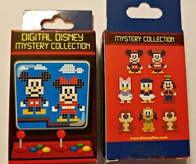 Disney Collectible Pin Pack DIGITAL DISNEY Mystery Box of 2 Pins Sealed NEW