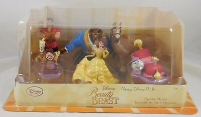 New Disney Store Beauty and The Beast Figure Playset Figurine Play Set Belle