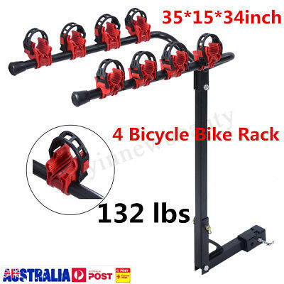4 Bicycle Carrier Bike Car Rear Rack Trunk Mount Strap-On Foldable Steel
