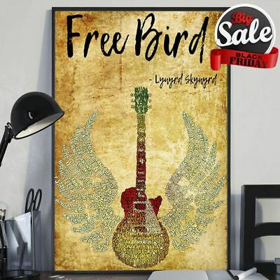 Lynyrd Skynyrd Free Bird Guitar Wing Poster 11-36 Inches Poster Without Frame