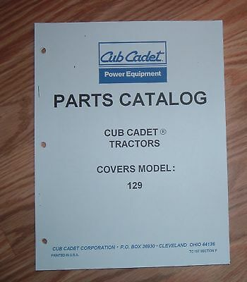 cub cadet 3206 tractor \u0026 engine illustrated parts list manualcub cadet 129 tractor \u0026 engine illustrated parts list manual