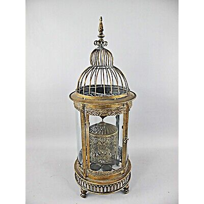 Lantern Metal with Glass 66cm Antique Nostalgic Iron Gold XL Spinning Lantern