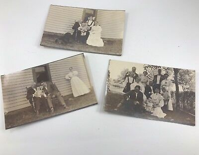 Set Of 3 Early Antique/Vintage Real Picture Postcards Of Rural American Living