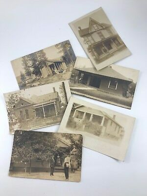 Set Of 6 Early Antique/Vintage Real Picture Postcards Of Rural American Living