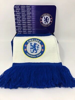 Chelsea Crest Scarf & Supports Tin Team Gift Set Official Stamford Bridge