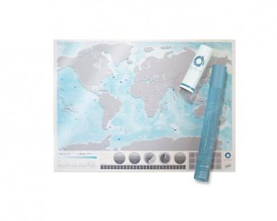 Scratch Map Oceans Edition Poster Personal Travel Log Gift Translucent PVC