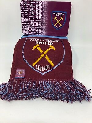 West Ham Scarf & Supports Tin Team Gift Set Official Fathers Day Birthday Hammer