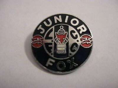 Rare Old Leicester City Football Supporters Club Junior Enamel Brooch Pin Badge