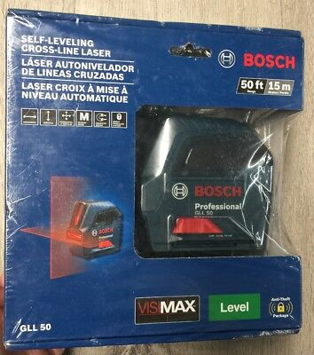 Bosch GLL 50 Self-Leveling Cross-Line Laser,Red Beam,50 ft. Range  New 149.00