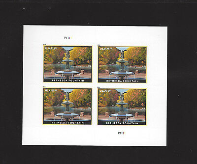 5xxx Bethesda Fountain 25.50 Priority Express Mail Sheetlet of 4 - scan 1