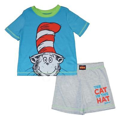 Dr. Seuss Toddler Boys Cat In The Hat Two-Piece Pajama Short Set Size 2T 3T 4T