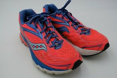 SAUCONY RIDE 8 Women's Running Shoes CoralBlueSea Size 9.5 Used