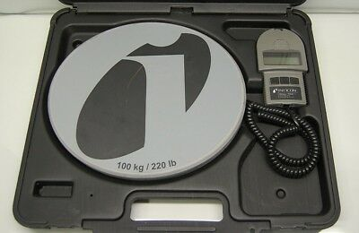 Inficon Wey-TEK 713-500-G1 220 Lbs/100 kg Refrigerant Charging AC Scale w/Case