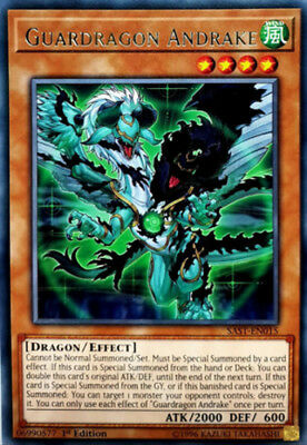 3x (M/NM) Guardragon Andrake - SAST-EN015 - Rare - 1st Edition  YuGiOh