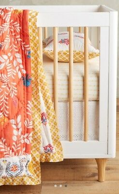 Anthropologie White Croched Crib Skirt - Toddler Bed