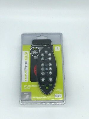 Black naviPro eX Wireless Remote for Apple 4G iPod, U2, HP, iPod Photo