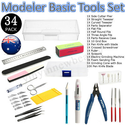 34pcs/Set Basic Tools Craft Set For Hobby Model Building Kit Grinding FOR GUNDAM