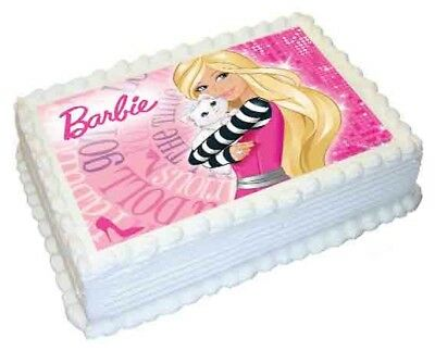 Barbie A4 Edible Image Cake Topper Icing Sheet Print Rectangle