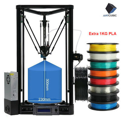 Anycubic 3D Printer Delta Kossel Plus Linear Auto Level Large Size+Extra PLA AU