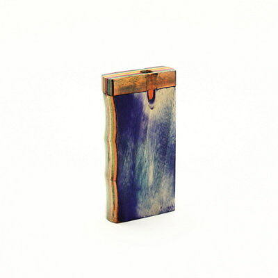 Colorful Pressed Wood Handgrip Dugout & Cigarette One Hitter,Cig Papers & Pouch.