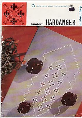 MODERN HARDANGER EMBROIDERY DESIGNS by Coates  35pp